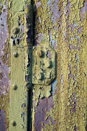 steel door: Surface of a rusted old steel door