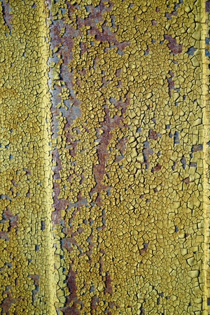 corroding: rust on an old steel door at the port of Magdeburg