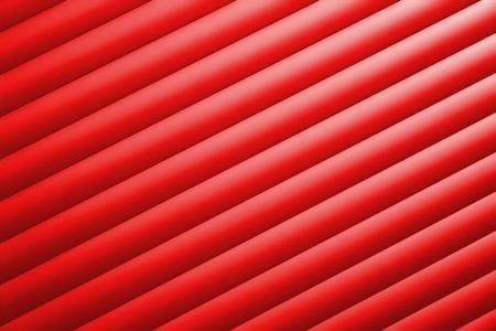 Detail of a red garage door