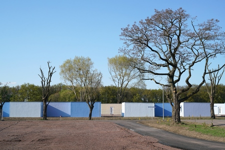 Refugee shelters on the outskirts of Magdeburg in Germany