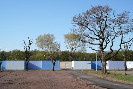 viviendas de refugiados en las afueras de Magdeburg en Alemania