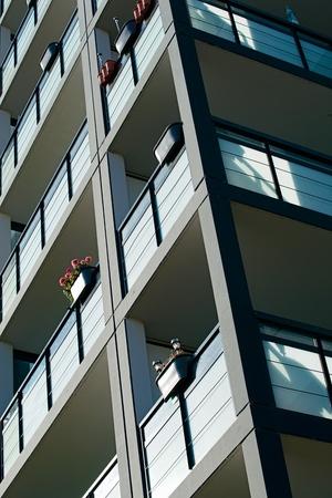Fachada de un edificio residencial en el centro de Magdeburgo
