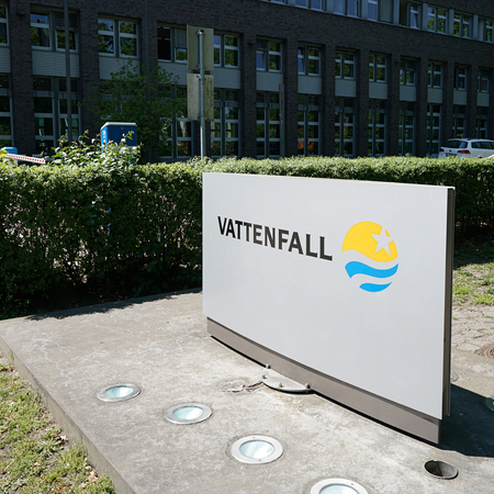 electricity company: BERLIN, GERMANY  MAY 10, 2016:. Company headquarters of Vattenfall Europe AG in Berlin Vattenfall is the most important energy supplier for Berlin