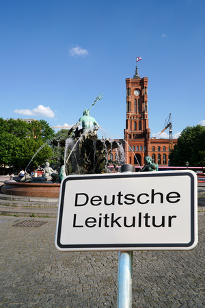 Sign with the words German culture. Stock Photo