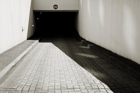 Exit of an underground car park in the city center of Magdeburg Фото со стока - 78067715