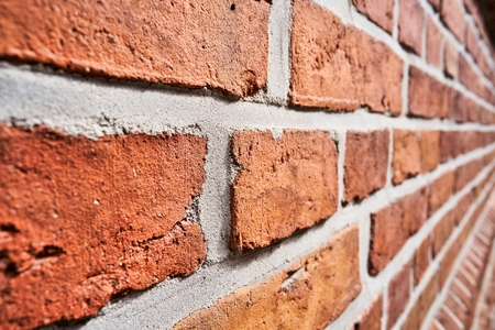 burned out: Wall made of bricks