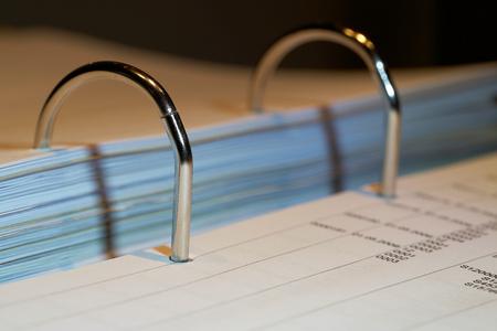 File folder on a desk in the office Stockfoto