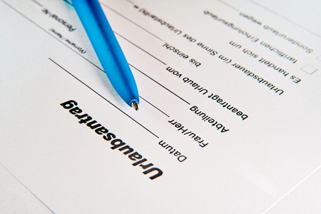 Application for leave on a table