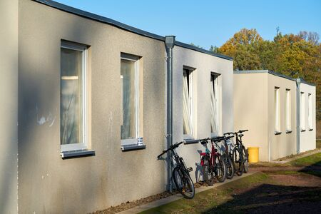 Emergency accommodation for refugees at the edge of the city of Magdeburg in Germany Editorial
