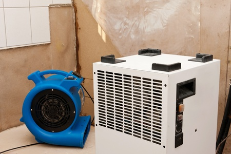 elimination: Elimination of water damage and dryer with fan
