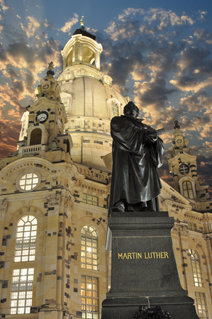 martin luther: Martin Luther statue, Dresden, Germany Stock Photo