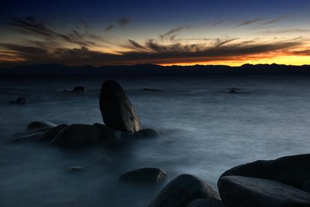 nevada: stones in lake tahoe, california, nevada, USA