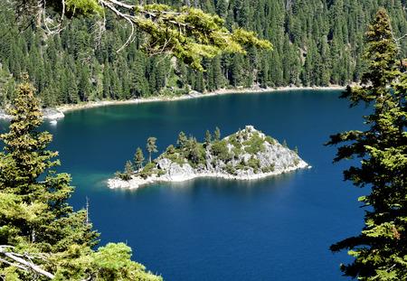 View to Fannatte Iceland in the Emerald Bay, Lake Tahoe, California Stock fotó