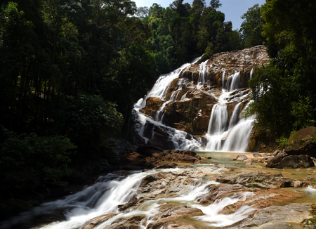 Sungai Pandan Waterfall, Kuantan, Malaysia - waterfall in the mountains