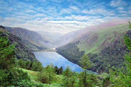 Glendalough Upper Lake, Glenealo Valley, Wicklow Way, County Wicklow, Ireland