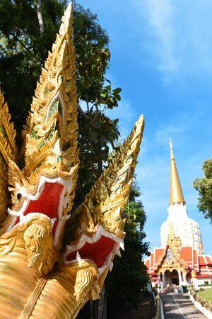 Naga statue, snake, multi headed king cobra, Wat Bang Riang, buddhistic temple, Thap Put, Amphoe hap Put, Phang Nga province, Thailand, Asia Stock fotó