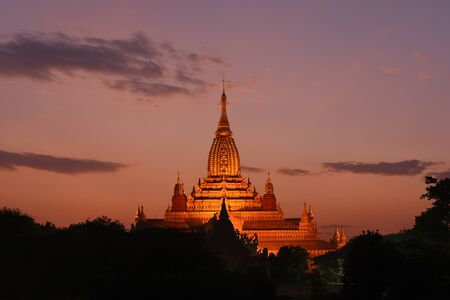 The Ananda Temple, located in Bagan, Myanmar is a Buddhist temple built in 1105 AD during the reign of King Kyanzittha of the Pagan Dynasty Stock fotó