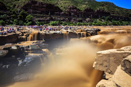 Hukou Waterfall scenery Фото со стока