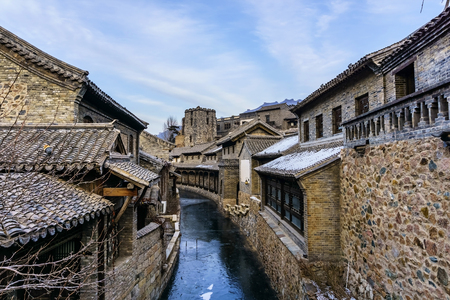 Landscape view of Gubei ancient town 스톡 콘텐츠