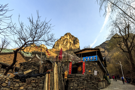 Natural scenery of Wanxian Mountain Scenic Spot, Hui County, Henan Province