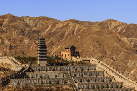 China's Shanxi Yanmenguan Scenic Area scenery