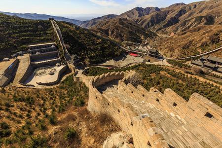 Chinas Shanxi Yanmenguan Scenic Area scenery