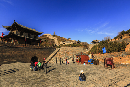China's Shanxi Yanmenguan Scenic Area scenery
