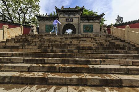 Scenery of Yongji Temple, Taiyuan, Shanxi, China