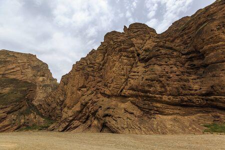 Natural scenery of Jingtai Yellow River Shilin National Geological Park, Baiyin City, Gansu Province, China