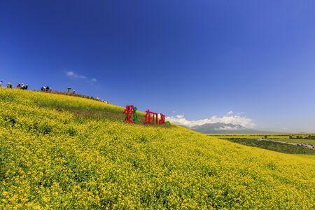 Natural scenery of Menyuan Hui Autonomous County, Haibei Tibetan Autonomous Prefecture, Qinghai, China Stockfoto - 128802229