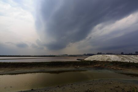 Chinas Dead Sea Salt Lake scenery in Yuncheng, Shanxi Province, China