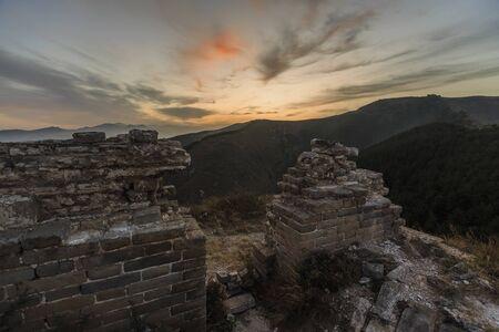 Natural scenery of Xinguang Wuming Great Wall, Shanyin County, Shanxi, China