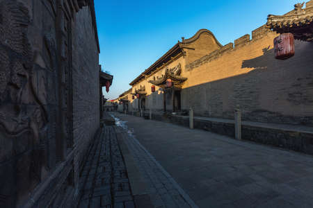 Yuci Changjia Manor, Jinzhong, Shanxi, China December 21, 2020 Yuci Changjia Manor, Changjia Manor is located in Chewang Village, Dongyang Town, southwest of Yuci, Shanxi Province, 17.5 kilometers away from Yuci. It is a traditional residence of Qing Dynasty architecture. building.