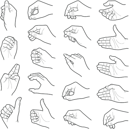 Hand collection - line illustration