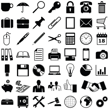 Business - Finance and Office icon collection - vector illustration Vettoriali