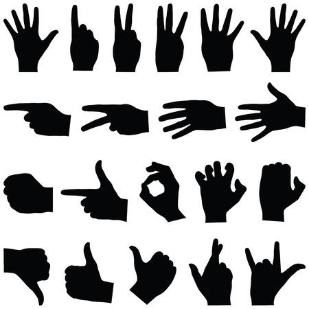 Handsammlung - Vektor-Silhouette