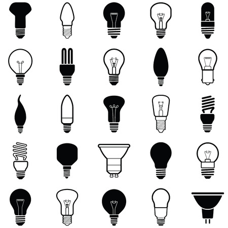 Light bulb icon - vector illustration collection