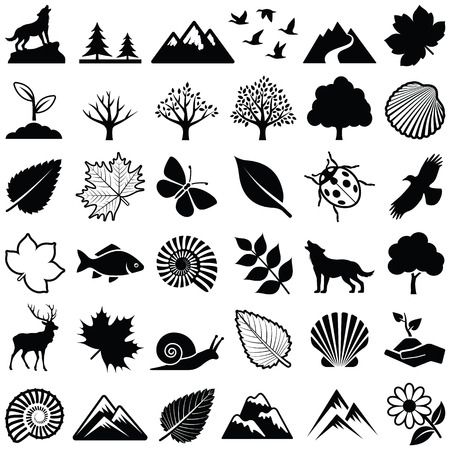 Nature icon collection - vector illustration