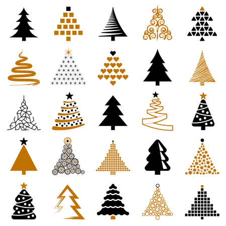 Christmas tree icon collection - vector illustration 向量圖像
