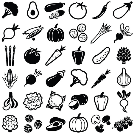 Vegetables icon collection - vector illustration Illustration