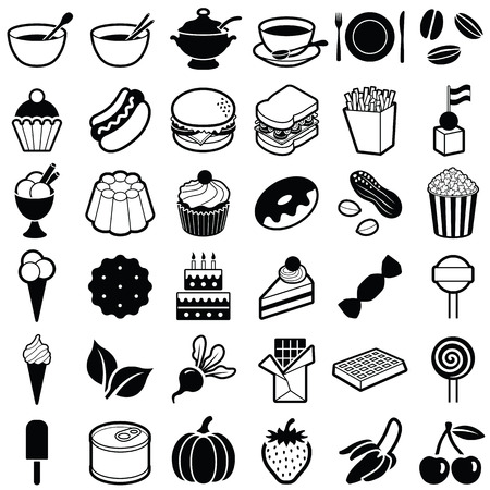 Food and Drink icon collection - vector illustration Illustration