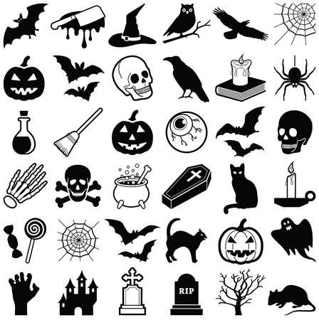 Halloween icon collection - vector illustration