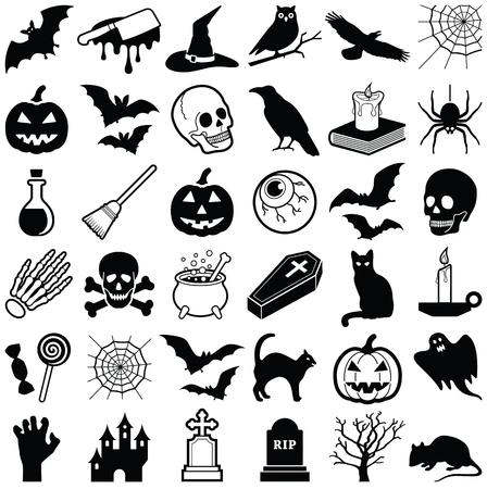 Halloween icon collection - vector illustration
