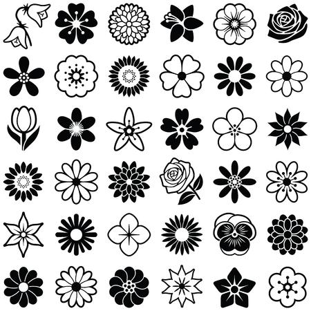 Flower icon collection - vector illustration Illustration