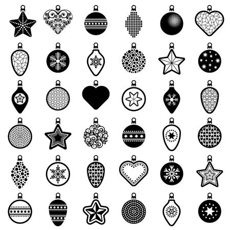 Christmas ball collection - vector illustration