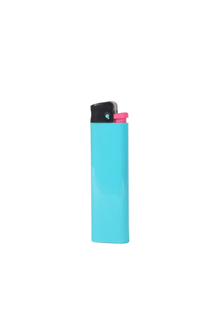 Blue lighter isolated on white background Stock Photo - 30382266
