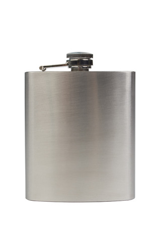stainles steel: Stainles steel flask isolated on white background Stock Photo