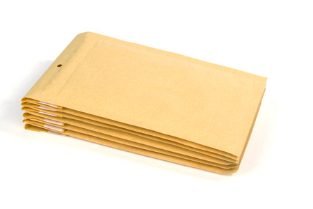 padding: Medium size bubble lined shipping or packing envelopes