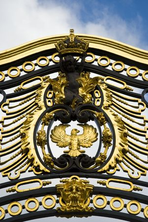 Details from the golden gate at Buckinham palace