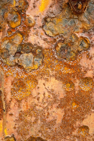 Orange and brown rust texture shot of metal surface Stock Photo - 10715327